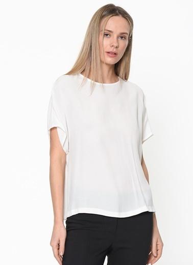 Koton Koton Beyaz Şifon Bluz Sarı